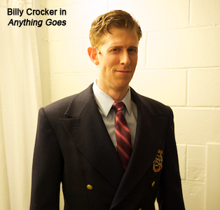 Mark Ledbetter as Billy Crocker in Anything Goes