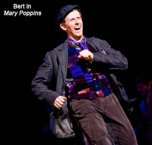 Mark Ledbetter as Bert in Mary Poppins on Broadway