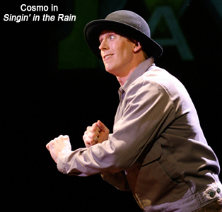 Mark Ledbetter as Cosmo in Singin In The Rain